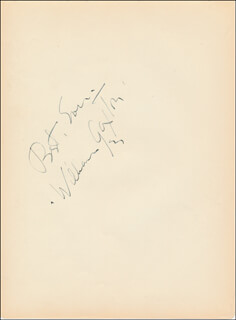 WILLIAM GAXTON - AUTOGRAPH SENTIMENT SIGNED