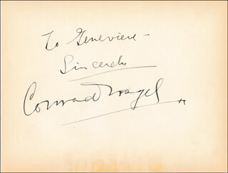 CONRAD NAGEL - AUTOGRAPH NOTE SIGNED