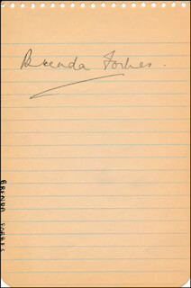 BRENDA FORBES - AUTOGRAPH