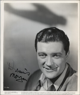 DENNIS MORGAN - AUTOGRAPHED SIGNED PHOTOGRAPH