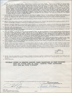 JACK ELAM - CONTRACT DOUBLE SIGNED 09/17/1971