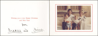 PRINCESS DIANA OF WALES (GREAT BRITAIN) - CHRISTMAS / HOLIDAY CARD SIGNED CIRCA 12/1987CO-SIGNED BY: PRINCE CHARLES OF WALES (GREAT BRITAIN)