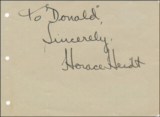 HORACE HEIDT - AUTOGRAPH NOTE SIGNED