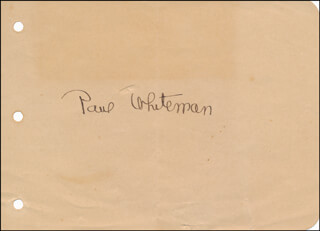 PAUL POPS WHITEMAN - AUTOGRAPH