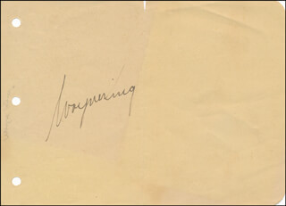 WAYNE THE WALTZ KING KING - AUTOGRAPH