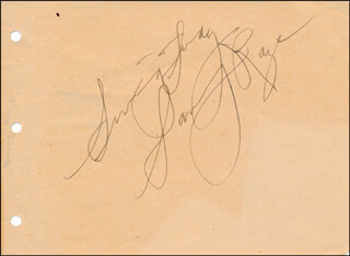 SAMMY KAYE - AUTOGRAPH SENTIMENT SIGNED