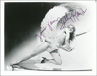 SALLY RAND - AUTOGRAPHED SIGNED PHOTOGRAPH