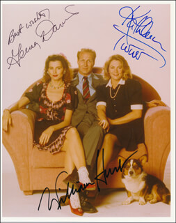 THE ACCIDENTAL TOURIST MOVIE CAST - AUTOGRAPHED SIGNED PHOTOGRAPH CO-SIGNED BY: GEENA DAVIS, KATHLEEN TURNER, WILLIAM HURT