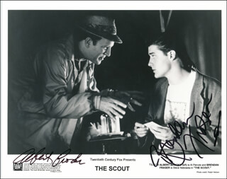 THE SCOUT MOVIE CAST - AUTOGRAPHED SIGNED PHOTOGRAPH CO-SIGNED BY: ALBERT BROOKS, BRENDAN FRASER
