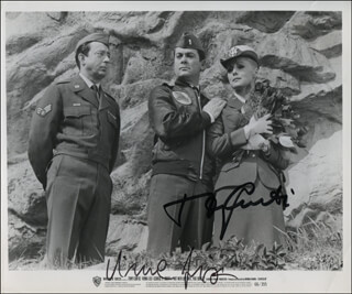 NOT WITH MY WIFE, YOU DON'T! MOVIE CAST - PRINTED PHOTOGRAPH SIGNED IN INK CO-SIGNED BY: VIRNA LISI, TONY CURTIS