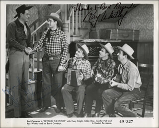 BEYOND THE PECOS MOVIE CAST - AUTOGRAPHED SIGNED PHOTOGRAPH CO-SIGNED BY: ROD CAMERON, RAY WHITLEY