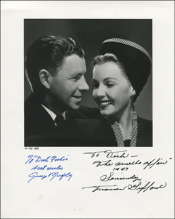 THE ARNELO AFFAIR MOVIE CAST - AUTOGRAPHED INSCRIBED PHOTOGRAPH CO-SIGNED BY: GEORGE MURPHY, FRANCES GIFFORD