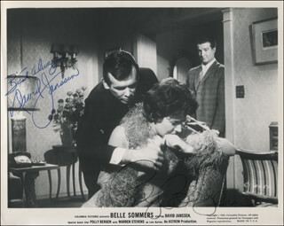 BELLE SOMMERS MOVIE CAST - PRINTED PHOTOGRAPH SIGNED IN INK CO-SIGNED BY: POLLY BERGEN, DAVID JANSSEN