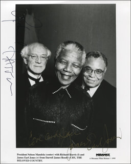 CRY THE BELOVED COUNTRY MOVIE CAST - AUTOGRAPHED SIGNED PHOTOGRAPH CO-SIGNED BY: RICHARD HARRIS, JAMES EARL JONES