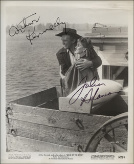 BEND OF THE RIVER MOVIE CAST - AUTOGRAPHED SIGNED PHOTOGRAPH CO-SIGNED BY: JULIE ADAMS, ARTHUR KENNEDY