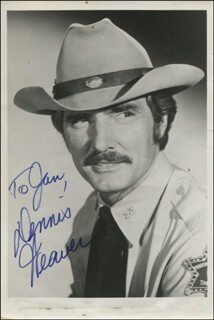 DENNIS WEAVER - AUTOGRAPHED INSCRIBED PHOTOGRAPH