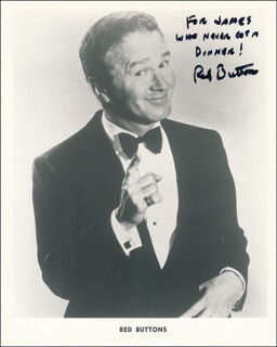 RED BUTTONS - INSCRIBED PRINTED PHOTOGRAPH SIGNED IN INK
