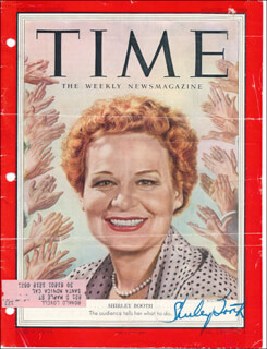 SHIRLEY BOOTH - MAGAZINE COVER SIGNED