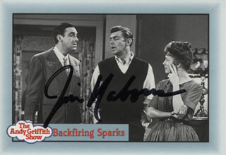 JIM NABORS - TRADING/SPORTS CARD SIGNED