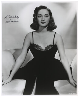 DOROTHY LAMOUR - AUTOGRAPHED SIGNED PHOTOGRAPH