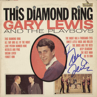 GARY LEWIS AND THE PLAYBOYS (GARY LEWIS) - RECORD ALBUM COVER SIGNED