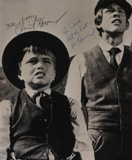 RON HOWARD - AUTOGRAPHED INSCRIBED PHOTOGRAPH CO-SIGNED BY: CLINT HOWARD