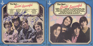 LOVIN' SPOONFUL - RECORD ALBUM COVER SIGNED CO-SIGNED BY: LOVIN' SPOONFUL (JOHN SEBASTIAN), LOVIN' SPOONFUL (JOE BUTLER), LOVIN' SPOONFUL (STEVE BOONE), LOVIN' SPOONFUL (JERRY YESTER)