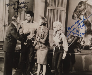 BEVERLY HILLBILLIES TV CAST - AUTOGRAPHED SIGNED PHOTOGRAPH CO-SIGNED BY: MAX BAER JR., DONNA DOUGLAS