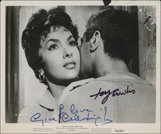 TRAPEZE MOVIE CAST - AUTOGRAPHED SIGNED PHOTOGRAPH CO-SIGNED BY: TONY CURTIS, GINA LOLLOBRIGIDA