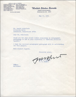 FRED R. HARRIS - TYPED LETTER SIGNED 05/10/1971