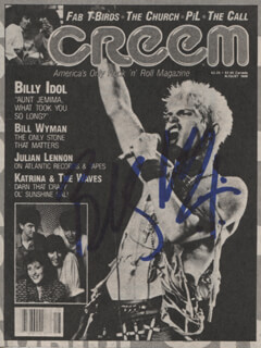 BILLY IDOL - NEWSPAPER PHOTOGRAPH SIGNED