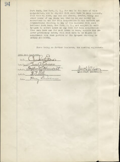 THOMAS A. EDISON - CORPORATE MINUTES SIGNED 01/09/1923 CO-SIGNED BY: GOVERNOR CHARLES EDISON, STEPHEN B. MAMBERT, HARRY F. MILLER, HENRY LANAHAN, JOSEPH WILSON