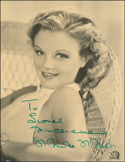 SIMONE SIMON - AUTOGRAPHED INSCRIBED PHOTOGRAPH