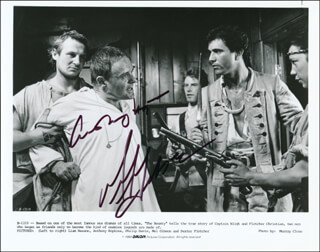 THE BOUNTY MOVIE CAST - AUTOGRAPHED SIGNED PHOTOGRAPH CO-SIGNED BY: MEL GIBSON, ANTHONY HOPKINS