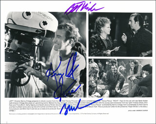 HOCUS POCUS MOVIE CAST - AUTOGRAPHED SIGNED PHOTOGRAPH CO-SIGNED BY: BETTE MIDLER, THORA BIRCH, KENNY ORTEGA