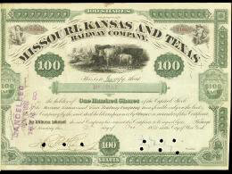 Autographs: JAY GOULD - STOCK CERTIFICATE TWICE SIGNED 10/12/1880 CO-SIGNED BY: W. B. HENSON