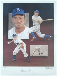 PEE WEE REESE - AUTOGRAPHED SIGNED POSTER CO-SIGNED BY: CHRISTOPHER PALUSO