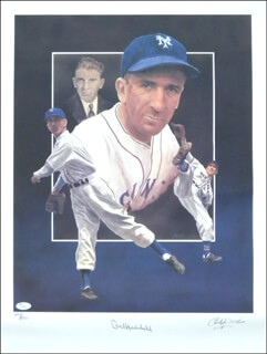 CARL HUBBELL - AUTOGRAPHED SIGNED POSTER CO-SIGNED BY: CHRISTOPHER PALUSO