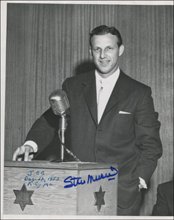 STAN THE MAN MUSIAL - AUTOGRAPHED SIGNED PHOTOGRAPH CIRCA 1953