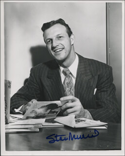 STAN THE MAN MUSIAL - AUTOGRAPHED SIGNED PHOTOGRAPH