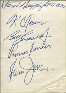 Autographs: BOSTON CELTICS - SIGNATURE(S) CO-SIGNED BY: BILL RUSSELL, K.C. JONES, SAM JONES, TOM SATCH SANDERS, HAROLD SAPPINGTON