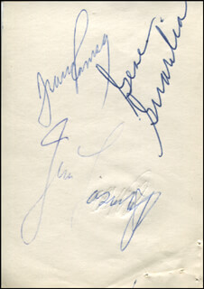 Autographs: BOSTON CELTICS - SIGNATURE(S) CO-SIGNED BY: JIM LOSCUTOFF, FRANK RAMSEY, GENE GUARILIA