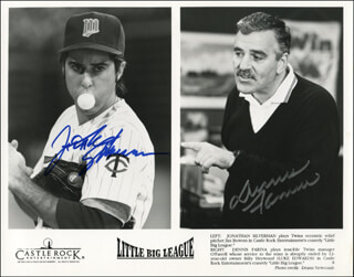 LITTLE BIG LEAGUE MOVIE CAST - AUTOGRAPHED SIGNED PHOTOGRAPH CO-SIGNED BY: DENNIS FARINA, JONATHAN SILVERMAN