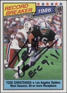 TODD J. CHRISTENSEN - TRADING/SPORTS CARD SIGNED