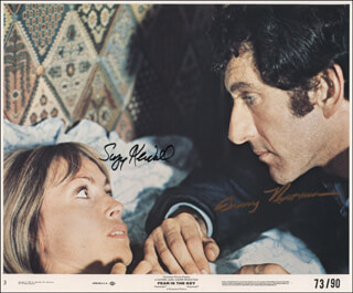 FEAR IS THE KEY MOVIE CAST - AUTOGRAPHED SIGNED PHOTOGRAPH CO-SIGNED BY: BARRY NEWMAN, SUZY KENDALL