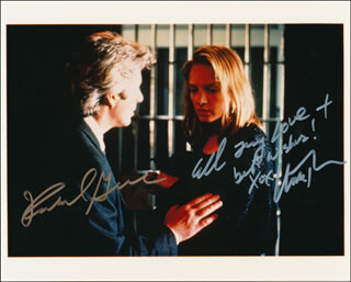 FINAL ANALYSIS MOVIE CAST - AUTOGRAPHED SIGNED PHOTOGRAPH CO-SIGNED BY: RICHARD GERE, UMA THURMAN