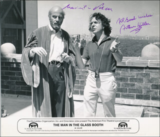 THE MAN IN THE GLASS BOOTH MOVIE CAST - AUTOGRAPHED SIGNED PHOTOGRAPH CO-SIGNED BY: MAXIMILIAN SCHELL, ARTHUR HILLER