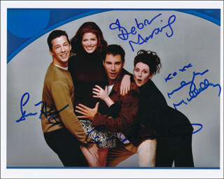 WILL & GRACE TV CAST - AUTOGRAPHED SIGNED PHOTOGRAPH CO-SIGNED BY: DEBRA MESSING, MEGAN MULLALLY, ERIC MCCORMACK, SEAN HAYES