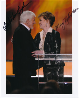 MARY TYLER MOORE - AUTOGRAPHED SIGNED PHOTOGRAPH CO-SIGNED BY: DICK VAN DYKE