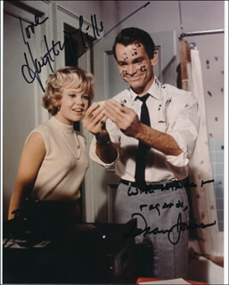 THAT DARN CAT! MOVIE CAST - AUTOGRAPHED SIGNED PHOTOGRAPH CO-SIGNED BY: HAYLEY MILLS, DEAN JONES